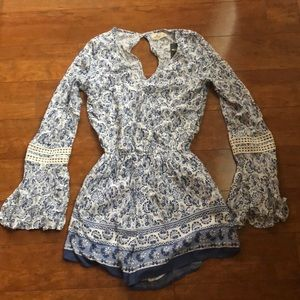 Hollister Long Sleeve Romper